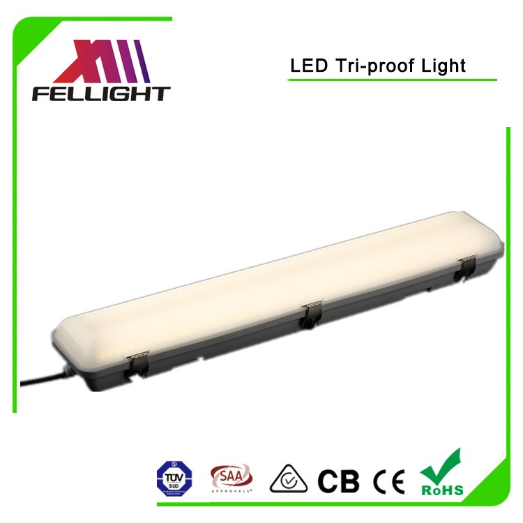 Newest led tri proof light 1500mm 60w IP65 with external driver 3 hours emergency