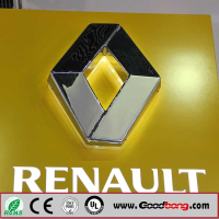 Professional custom shape 3D metal auto emblems car logo / 4D round LED car logo emblems