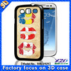 3D flash design printing mobile phone case for galaxy s3