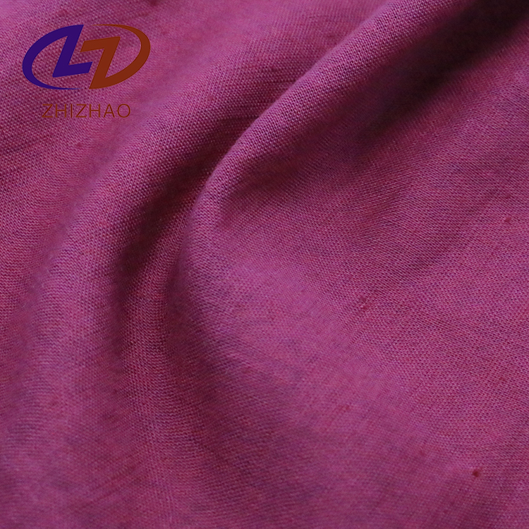 55% linen 45% cotton fabric roll with woven for Dress