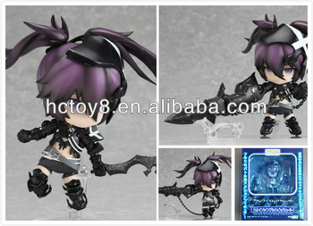 Wholesale PVC 10cm Black Rock shooter Q version Purple Black Rock action figure