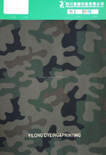 100% Cotton 1/1 Canvas Fabric with pigment printing of camouflage