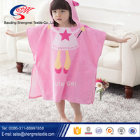 cartoon design kids hooded bath towel 100% organic cotton towel
