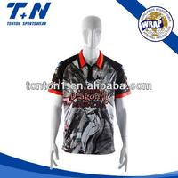 sublimation racing jersey customized crew shirts