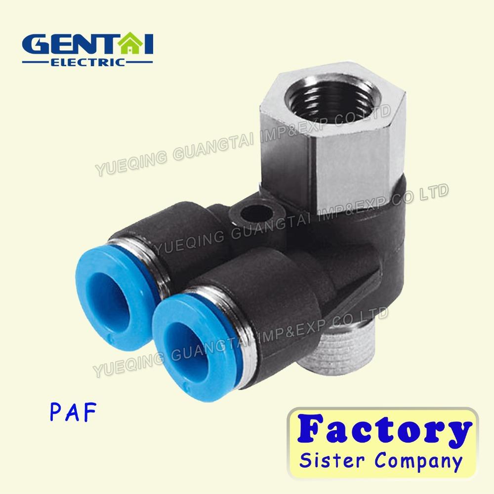 Good Quanlity plastic push in air female PAF quick connect pneumatic fittings