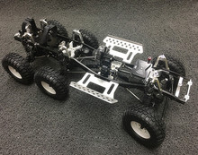 kyx 1/10 rc crawler scx10 modified upgrade 6*6 metal car