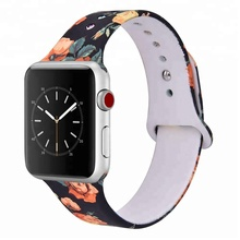 2018 New Launch Woman Fashion 42mm-22mm Rubber Silicone Watch Strap Band with Buckle for Apple Watch Band