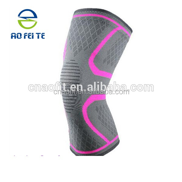 Private label elastic running knee <strong>protective</strong> sleeve with silicone grip gel