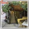 House artificial plants kids plastic tree banyan tree