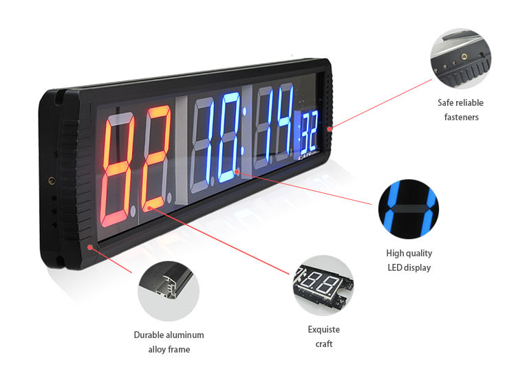 [GANXIN]Electronic Led Gym Sports Training Timer Countdown/ Count up Function