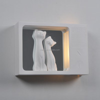 Wall-Light-MG-3079 Modern decorative plaster led gypsum wall lamp living room wall light