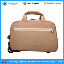 Nylon luggage and bags, foldable travel trolley luggage bag
