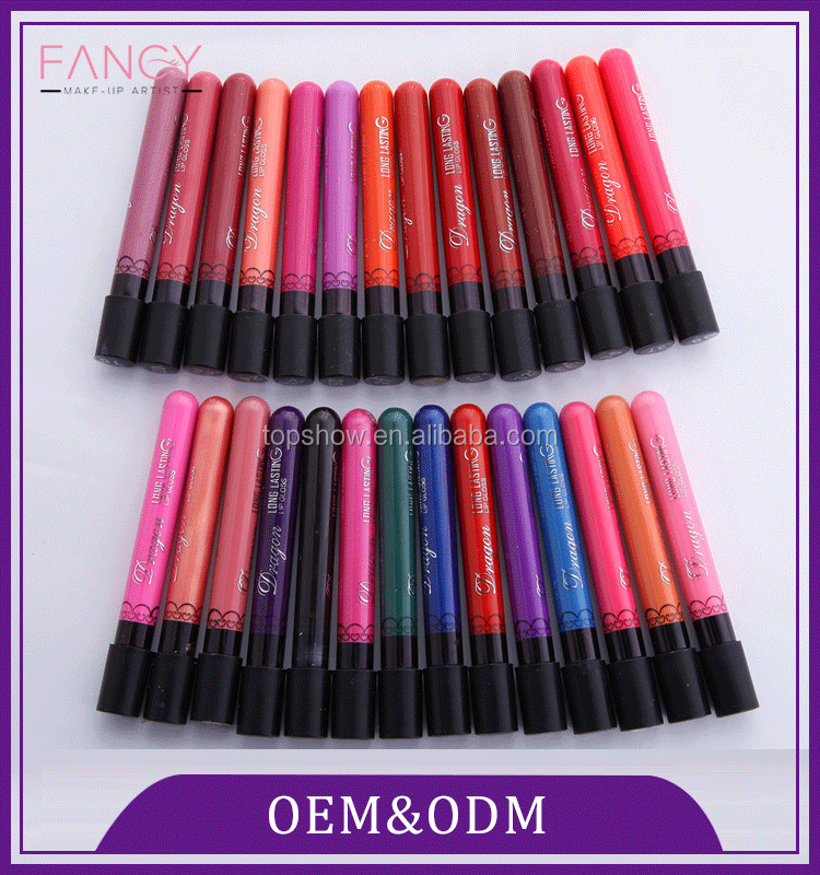 Manufacturing private label liquid matte waterproof plastic cosmetic lipstick