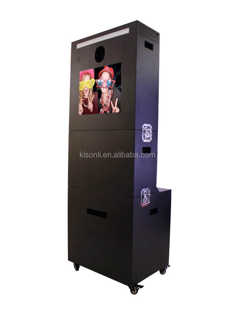 nouveau design double cran distributeurs photobooth portable photo booth kiosque pour haut de. Black Bedroom Furniture Sets. Home Design Ideas