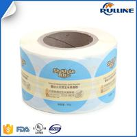 Full color printing round paper label sticker waterproof adhesive circle vinyl sticker label