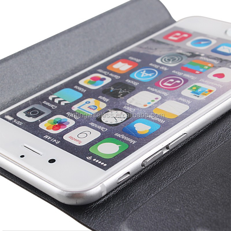 High grade lether phone case with holder and card design for iphone 6