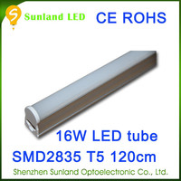 Patent design CE ROHS T5 16w SMD2835 1600lm australia animal tube free hot sex t5 led tube www red tube