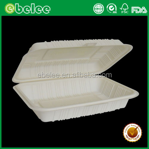 disposable corn starch biodegradable lunch box