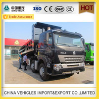 sinotruck howo a7 front lift 4 axle tipper dubai used dump trucks sale