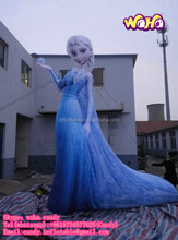 Customzied advertising inflatable frozen Elsa cartoon for sale C-203