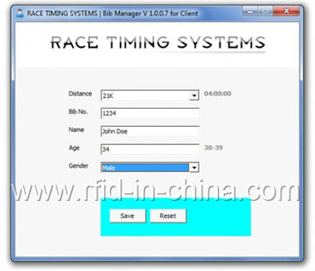 Marathon Race Rfid Timing System Software With High