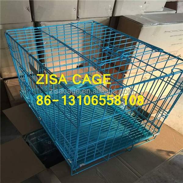 BLUE /Black DOG CAGE 20'' 24'' 36'' 42'' Metal Dog kennel / dog crate / cage/house made in china