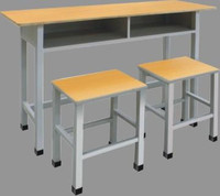 China made cheap school furniture wooden school desk with bench