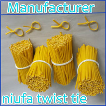 packaging material plastic twist tie for toy bread and cookie backaging