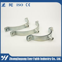 High Qulity Steel Rubber Steel Riser Pipe Clamp