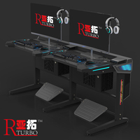 2019 Fashion and top selling computer table gaming desk PC desk for Internet Bar
