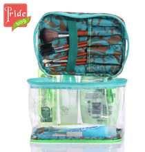 Clear PVC Zipper Closed Cosmetic Bag With Mirror Cheap PVC Promotional Bag
