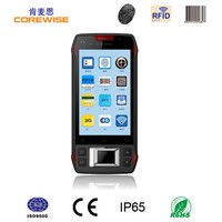 Android 5.1.1 quad core 4G handheld rugged fingerprint smartphone with barcode scanner,nfc/rfid reader,contact IC card reader