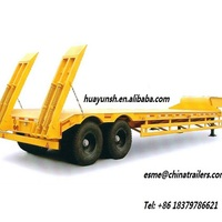 China Manufacture Construction Machinery Transportation Lowbed