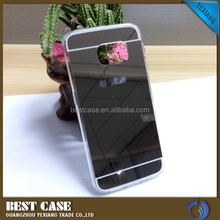 Acrylic tpu mirror phone case for samsung galaxy s5 soft gel cover