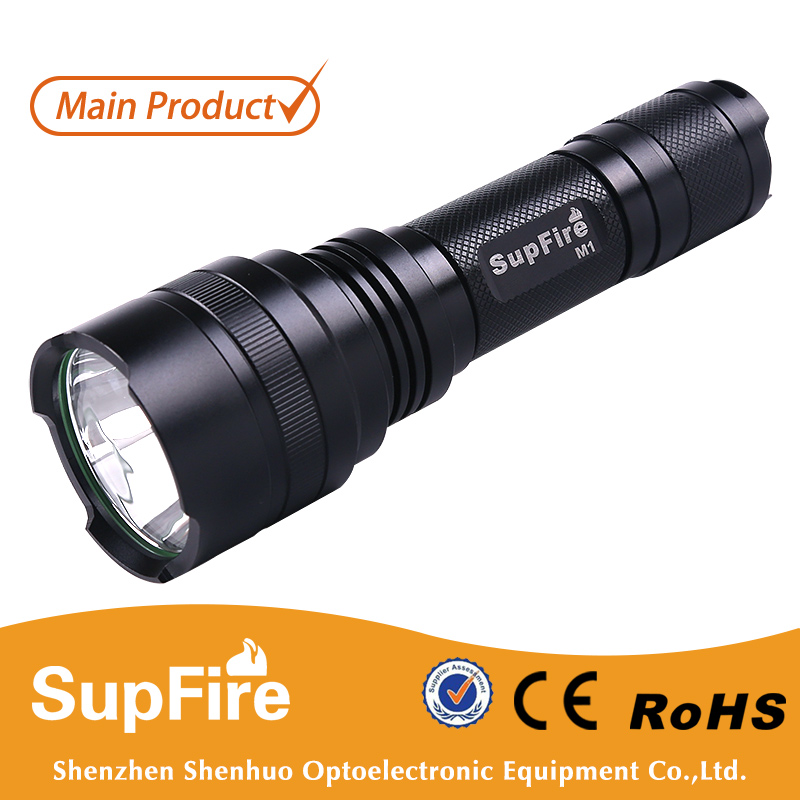 M1 waterproof mini rechargeable light torch with 18650 battery