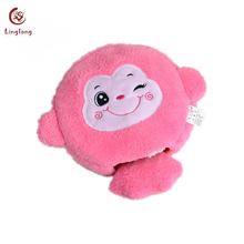 High Quality Plush Cute Pink Fox USB Hand Warmer Movable Stuffed Animal Heated Mouse Pad