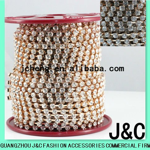 PP32 Metal Cup Chain with rhinestone for shoes and clothes/Strass