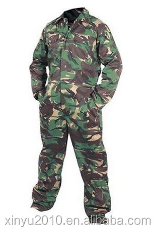 camouflage workwear coveralls with front zipper fire retardant workwear with good quality