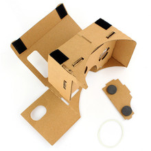 2015 new Virtual reality 37mm lens cardboard 3D Glasses Glasses Type cardboard vr 3d glasses