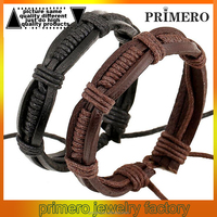 100% Genuine Cowhide Leather Braided Bracelet Men For Women Wholesale Fashion Jewelry