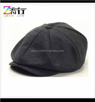 Wholesale wool newsboy cap hat for man