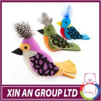 high quality decorative sound plush bird toy with music for child
