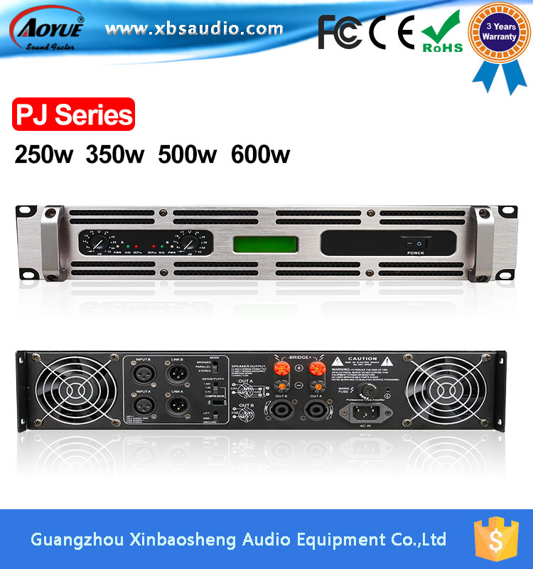 Professional transformer power amplifier with display PJ-3000