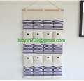 Linen/Cotton Fabric 20 Pockets Wall Door Closet Hanging Storage bag organizer