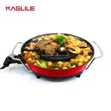Die cast aluminium korean with hot pot electric bbq grill