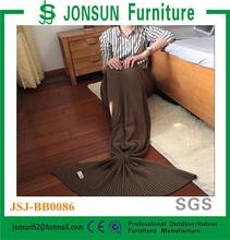 Jonsun 100% cotton knit mermaid tail blanket mermaid blanket tail