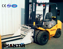 2T FD20 high mast Shantui forklift with bale clamp