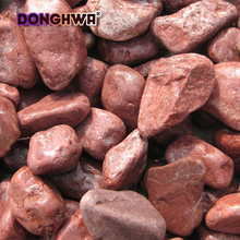 China decoration garden round aggregated red pebble stone DH-PE07