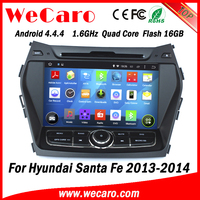 Wecaro WC-HIX7201 Android 4.4.4 WIFI 3G touch screen car dvd gps for hyundai santa fe car audio system 2013 2014