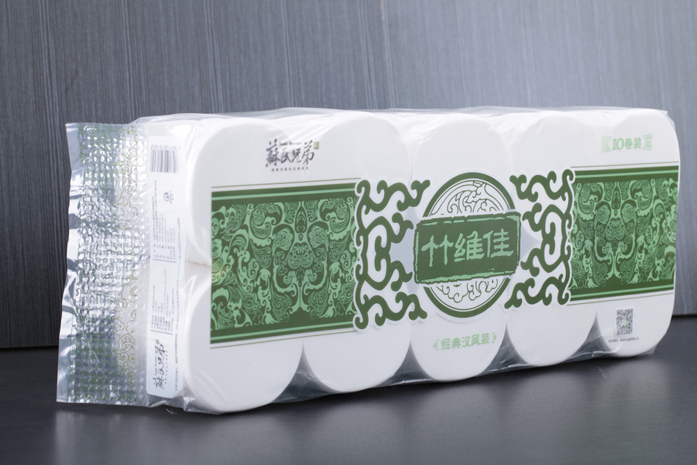Chinese style packing toilet rolls Big roll toielt paper 1800g/pack 10rolls coreless paper
